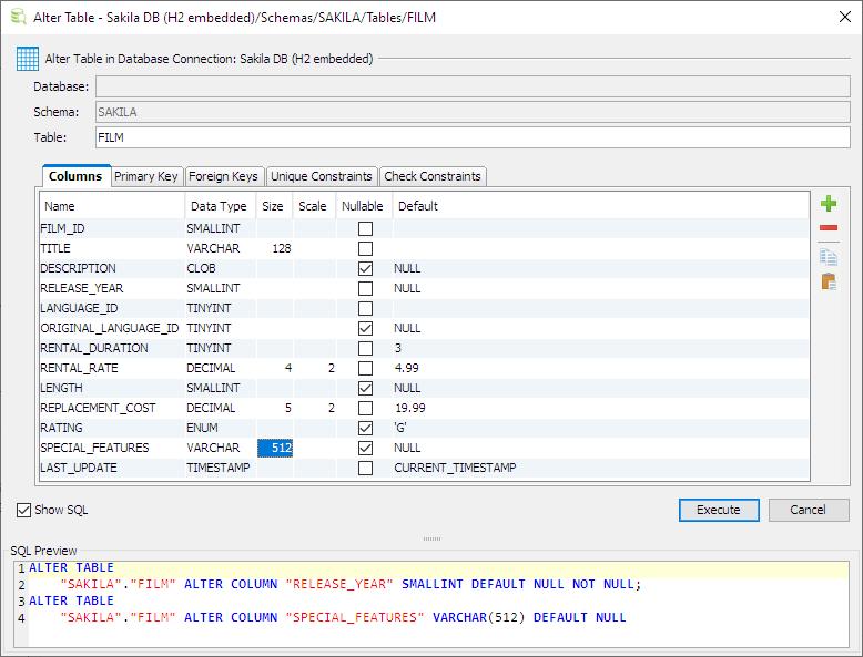 Database Table Design - DbVisualizer