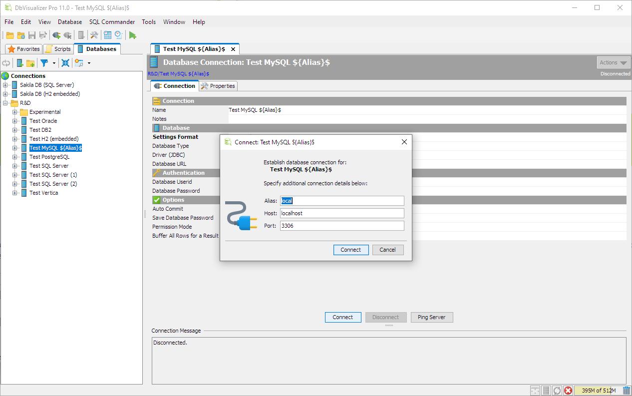Database Connection Management - DbVisualizer